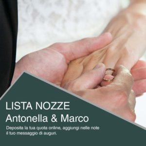 Protetto: Lista Nozze Antonella & Marco