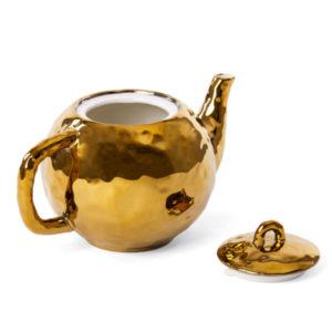 SELETTI –  Teiera – Fingers Porcelain Gold