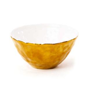 SELETTI –  Fingers Porcelain Gold  Bowl – Coppetta –  Oro