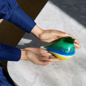 OCTAEVO – Atlas Glass Bird – Blu/Yellow