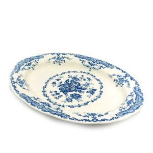 Bitossi Home – Vassoio ovale – Decori Blu – collezione Rose