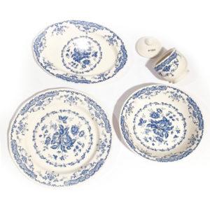 Bitossi Home – Vassoio Tondo – Decori Blu – collezione Rose