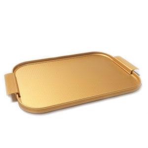 KAYMET – Vassoio Diamond all Gold  – 40 x 28