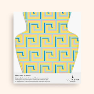 OCTAEVO – Paper Vase Icarus- yellow