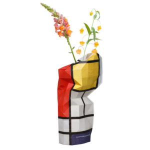 Tiny Miracles – Paper Vase Cover Paper Red- Mondriaan