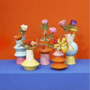 & Klevering – Vaso Origami Fuchsia