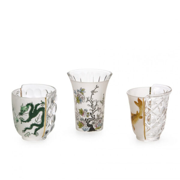 SELETTI - Hybrid - Set 3 Bicchieri Aglaura