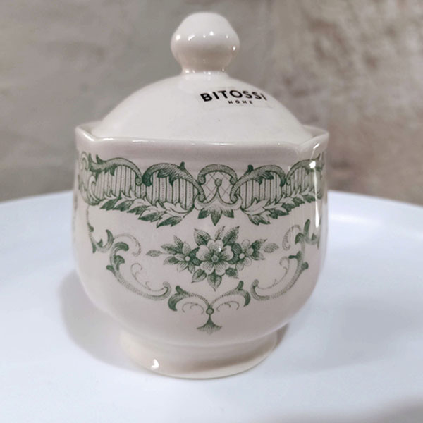 Bitossi Home - Zuccheriera - Decori Salvia - collezione Rose