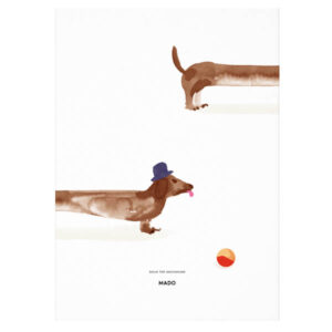 MADO – Doug the Dachshund – 50 x 70