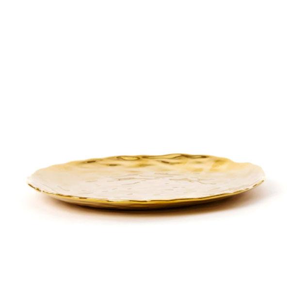 SELETTI - Piatto dolce - Fingers Porcelain Gold