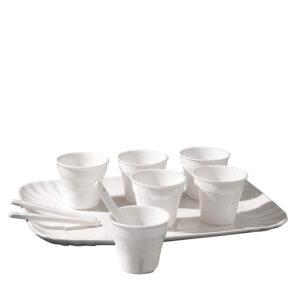SELETTI- Coffee set 6 Tazzine con vassoio