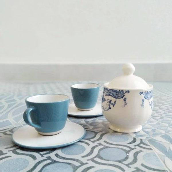 Bitossi Home - Zuccheriera - Decori Blu - collezione Rose