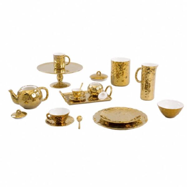 SELETTI - Fingers Porcelain Gold Bowl - Coppetta - Oro