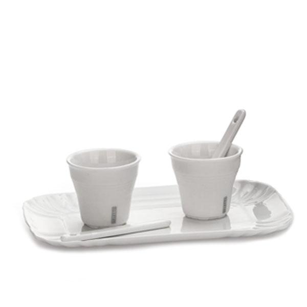 SELETTI- Estetico Quotidiano - Coffee Set 2 Tazze + 1 Vassoio