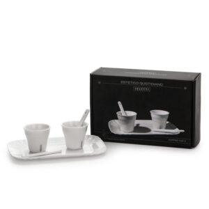 SELETTI- Estetico Quotidiano – Coffee Set 2 Tazze + 1 Vassoio