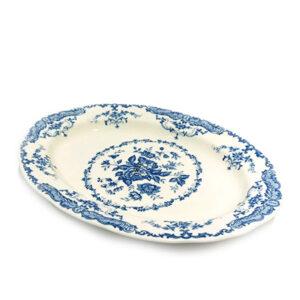 Bitossi Home  Vassoio ovale  Decori Blu  collezione Rose