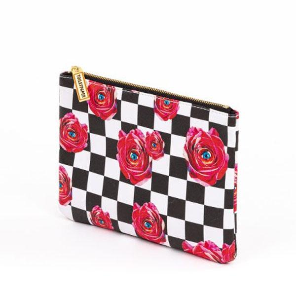 SELETTI- Toiletpaper Case Roses -pochette