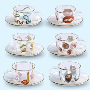SELETTI  Coffee Cup Roses- Toiletpaper