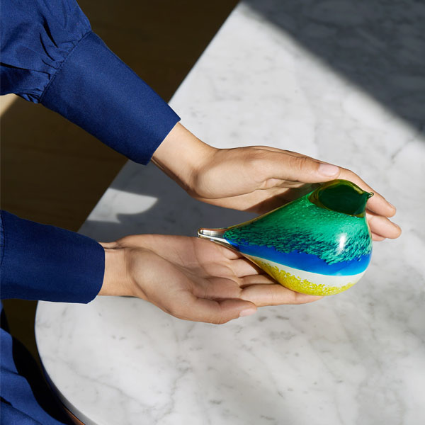 OCTAEVO - Atlas Glass Bird - Blu/Yellow