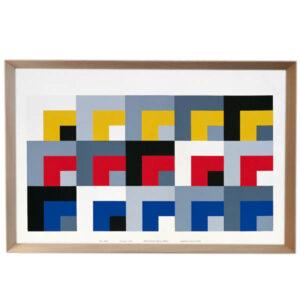 DANESE Milano – Le Stanze-Enzo Mari 1958 – con cornice in legno