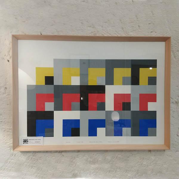 DANESE Milano - Le Stanze-Enzo Mari 1958 - con cornice in legno