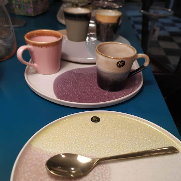 HK Living - Gallery ceramics piatto ovale pink/lilac