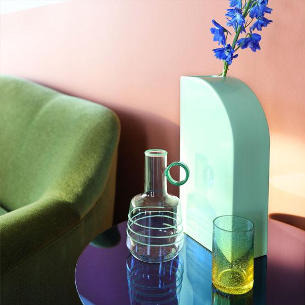 & Klevering - Vase squeeze - verde