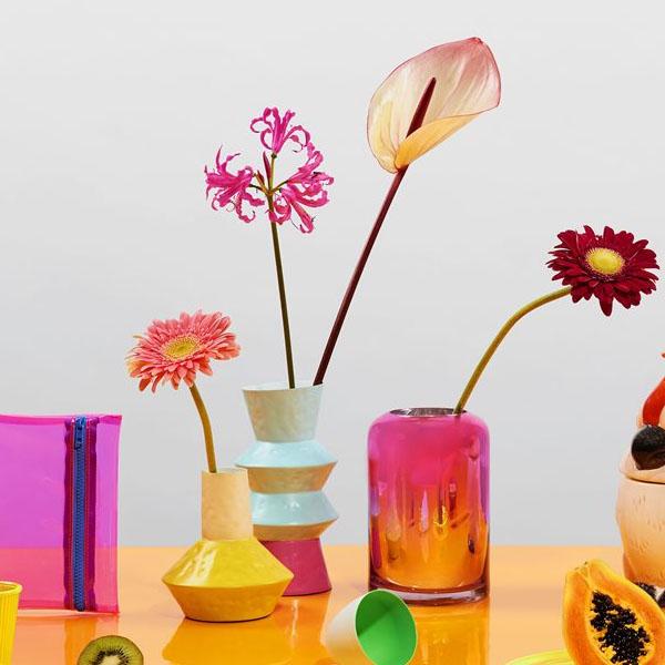 & Klevering - Vaso Origami Yellow