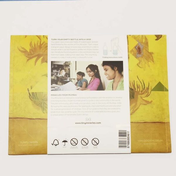Tiny Miracles - Paper vase cover Sunflowers