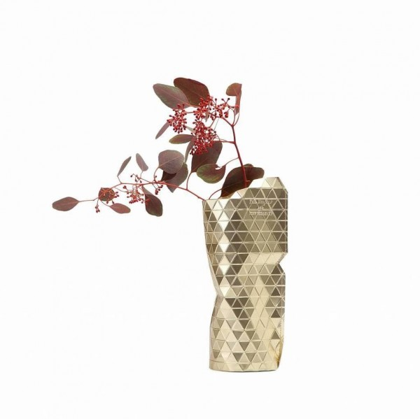 Tiny Miracles - Paper vase cover Gold