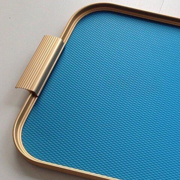 KAYMET - S18 Vassoio Diamond Sky Blue/Gold