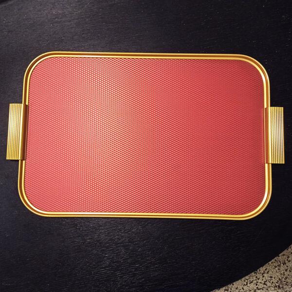 KAYMET - Vassoio Diamond Red/Gold -S18
