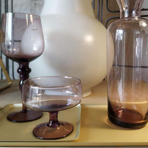 Bitossi Home - Set 6 Calici Vino Nuance Ambra Rosa