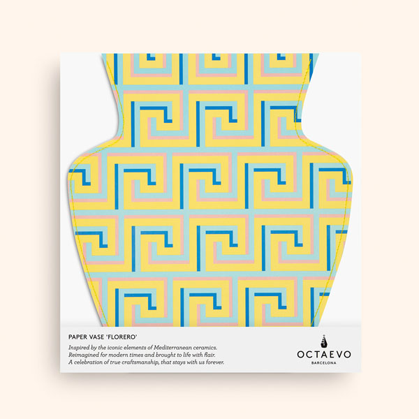 OCTAEVO - Paper Vase Icarus- yellow