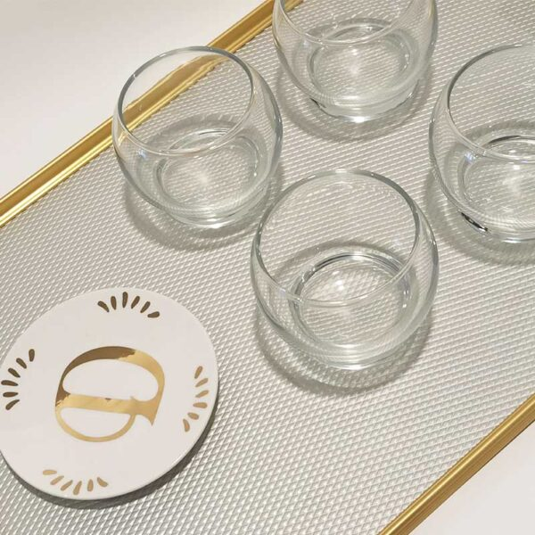 KAYMET - Vassoio Diamond Silver/Gold -S18