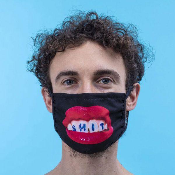 SELETTI- Facemask Shite Black Size S/M
