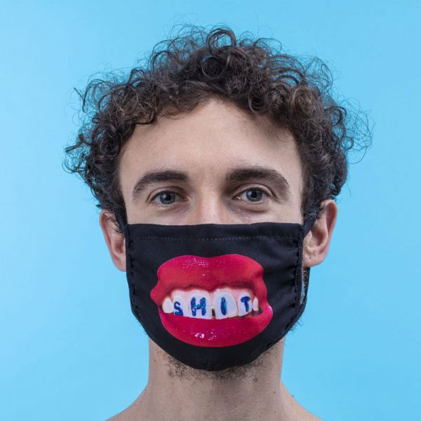SELETTI- Facemask Shite Black Size M/L