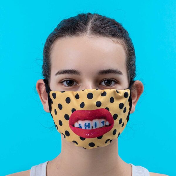 SELETTI- Facemask TEETH Pois Size S/M