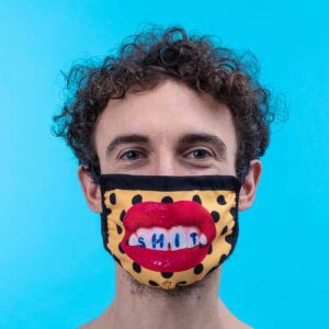 SELETTI- Facemask TEETH Pois  Size M/L