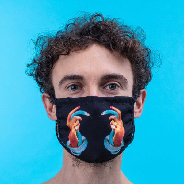 SELETTI- Facemask Hands with Snakes M/L