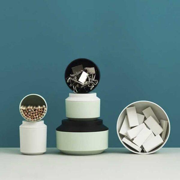 NORMAN COPENHAGEN - Geo Sugar Bowl Mint/Frost