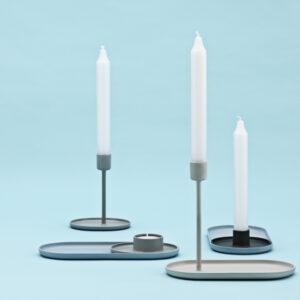 NORMAN COPENHAGEN – Candlestick Tray light blue
