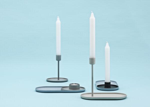 NORMAN COPENHAGEN - Candlestick Tray light blue