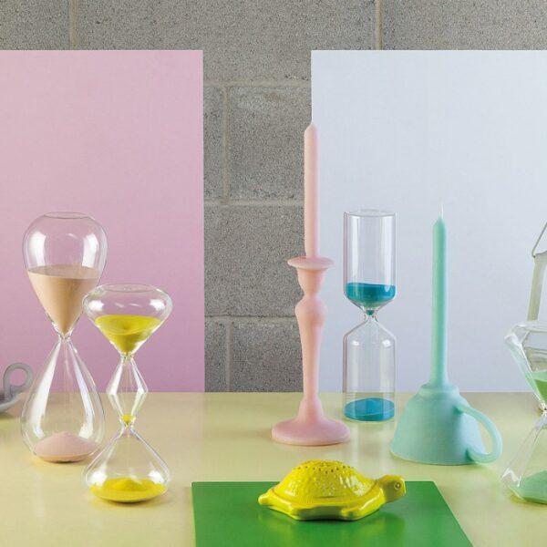 BITOSSI - Time Mini Clessidra, Trasparente/Giallo