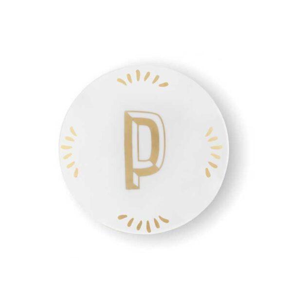 BITOSSI -Piattino Lettera P - tondo