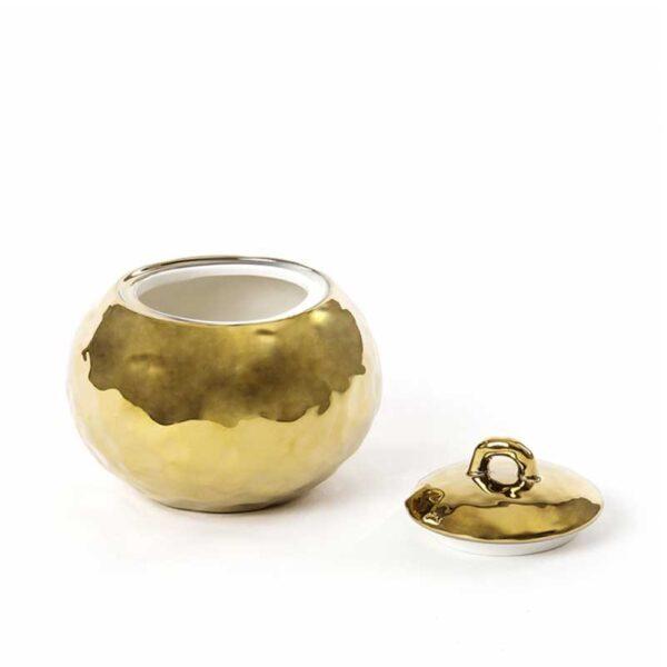 SELETTI - Zuccheriera - Fingers Porcelain Gold