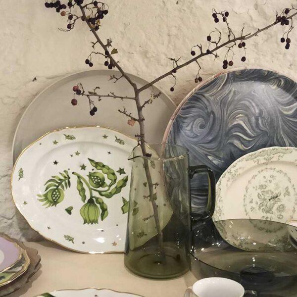 BITOSSI - Fiori verdi - piatto vassoio ovale