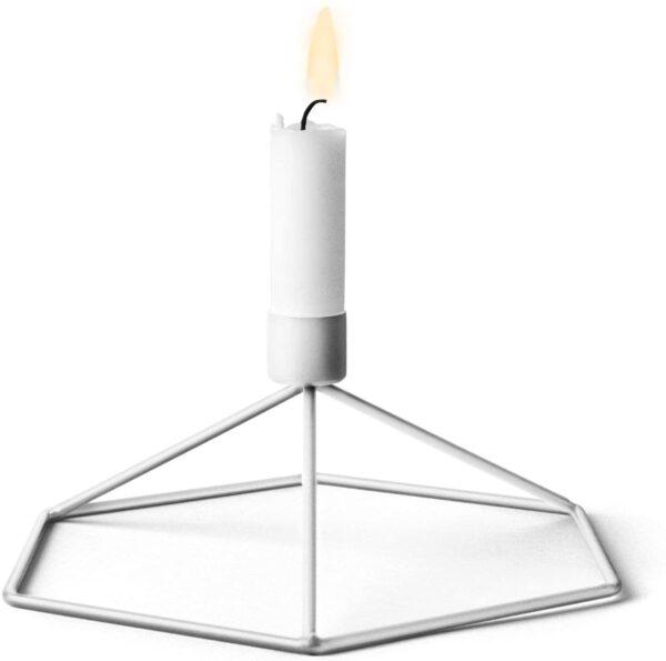 MENU AS - Portacandela da tavolo POV, Opaco, Bianco