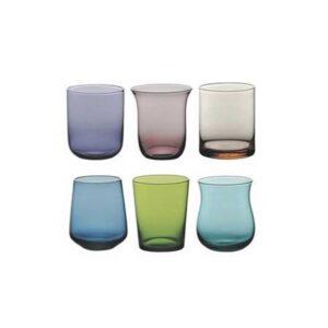 Bitossi Home – Set 6 Bicchierini Liquore – Blu Verde Forme Assortite