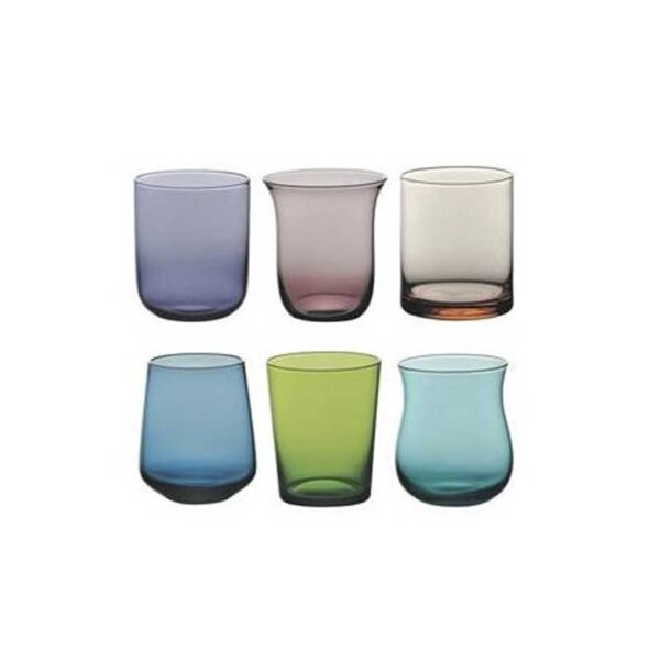 Bitossi Home - Set 6 Bicchierini Liquore - Blu Verde Forme Assortite